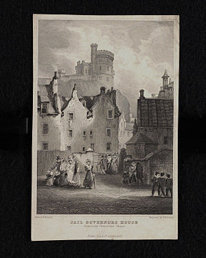 Governor's House, Edinburgh - Historic view of Governor's House