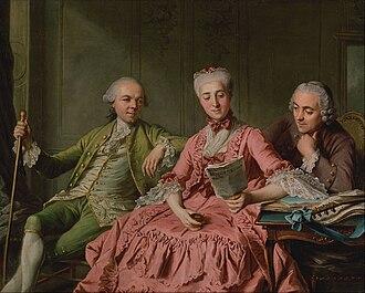 Louis, Prince of Brionne - Louis' wife with the duc de Choiseul.