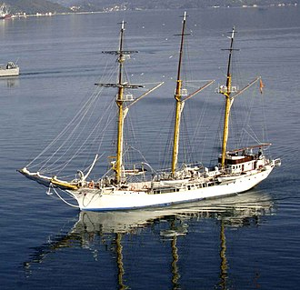 Montenegrin Navy - Image: Jadran saling ship