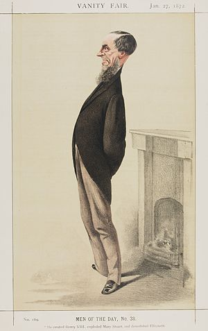 James Anthony Froude - Caricature by Adriano Cecioni published in Vanity Fair in 1872.