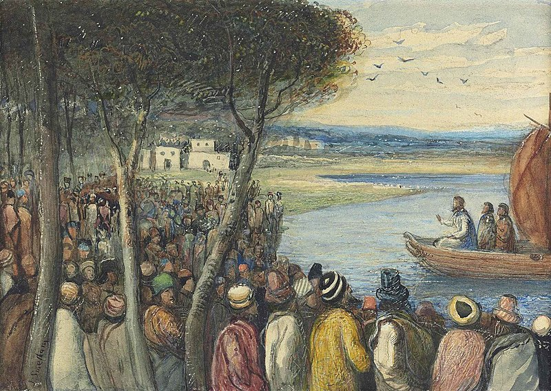 File:James Smetham - Christ preaching to the multitudes.jpg