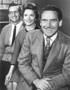 Conlan Carter - Carter (left) as C.E. Carruthers with James Whitmore and Janet De Gore, 1962.