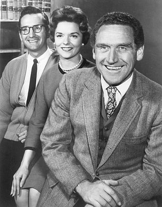 James Whitmore - Publicity photo of Conlan Carter, Janet De Gore and James Whitmore, from the television program The Law and Mr. Jones
