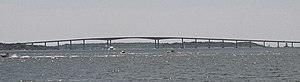 Jamestown, Rhode Island - The Jamestown-Verrazano Bridge, constructed in 1992, connects Jamestown with mainland Rhode Island