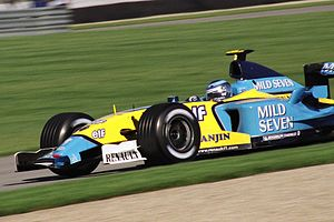 Jarno Trulli - Jarno Trulli driving for Renault at the 2003 United States Grand Prix at Indianapolis.