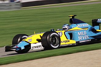 Mevius - The Renault R23 with Mild Seven sponsorship, driven by Jarno Trulli at the Indianapolis Motor Speedway during the 2003 F1 Season.