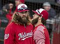 Jayson Werth and Bryce Harper in 2017 (33703075704).jpg