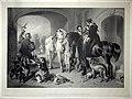 Jean-Baptiste Adolphe Lafosse (1810-1879), Le Retour de la Chasse au Faucon, Lithografie nach Landseer, D1634.jpg