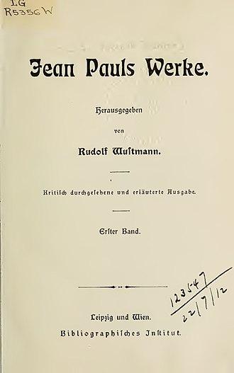 Titan (Jean Paul novel) - Titan, I