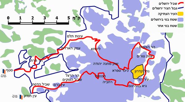 מפת שביל י-ם