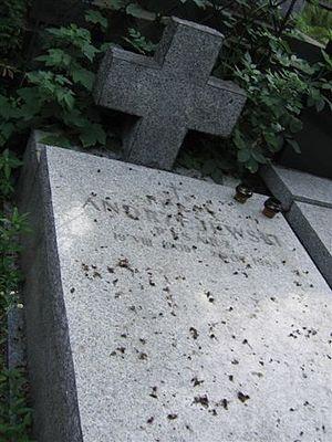 Jerzy Andrzejewski - Grave of Jerzy Andrzejewski at Powązki Cemetery in Warsaw