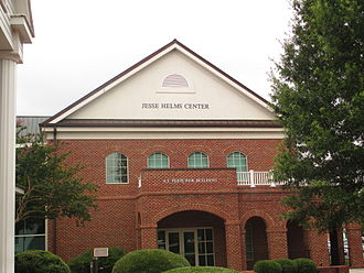 Jesse Helms - The Jesse Helms Center is located next to the Wingate Town Hall.