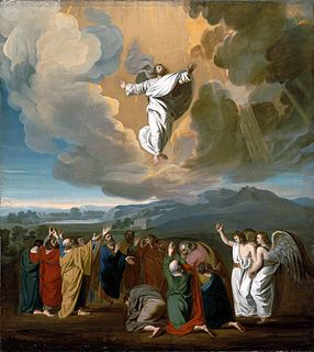 Ascension of Jesus in Christianity, the departure of the risen Christ from Earth into the presence of God, said to have taken place 40 days after the resurrection, as described in Acts 1