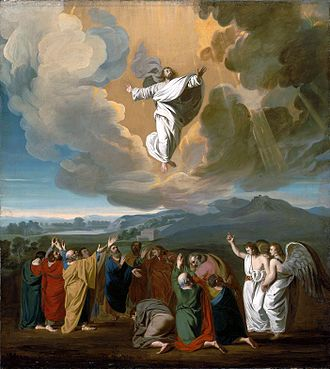 Christ the Lord Is Risen Today - Jesus' ascension to heaven depicted by John Singleton Copley, 1775