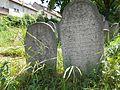 Jewish gravestones, Belvárosi Cemetery in Esztergom, Hungary.jpg
