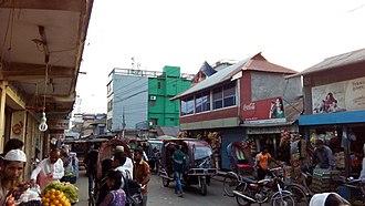 Jhalokati District - Image: Jhalokathi Town in 2016