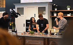 Grand Designs - Grand Designs Live ambassadors Jo Hamilton and George Clarke compete in a 'cook-off'