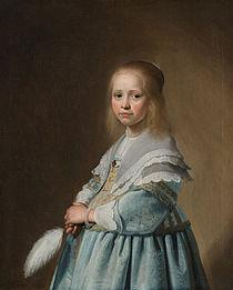Johannes Cornelisz. Verspronck - Portret van een meisje in het blauw - Google Art Project.jpg