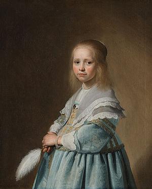 Johannes Cornelisz Verspronck - Image: Johannes Cornelisz. Verspronck Portret van een meisje in het blauw Google Art Project