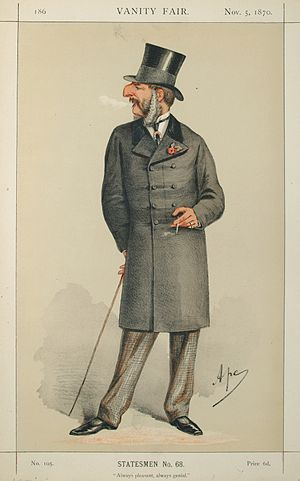 "John Cranch Walker Vivian - ""Always pleasant, always genial."" Vivian as caricatured by Ape (Carlo Pellegrini) in Vanity Fair, November 1870"