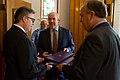 John Horgan and Andrew Weaver drop off coalition agreement (34205773473).jpg