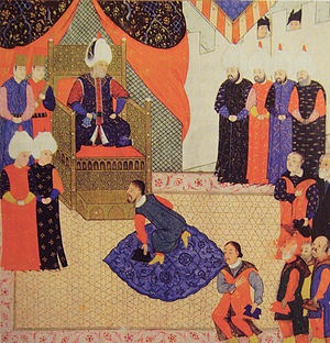 Prince of Transylvania - King John Sigismund of Hungary with Suleiman the Magnificent in 1556.