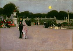 John Singer Sargent: In the Luxembourg Gardens