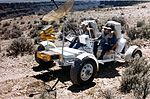 John Young and Charlie Duke drive north during geology training at the Rio Grande Gorge.jpg