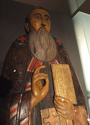 Ilya (Archbishop of Novgorod) - A wooden effigy from Saint John's reliquary, 1559.