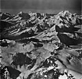 Johns Hopkins and Margerie Glaciers, tidewater glacier, icefall, and mountain glaciers, September 12, 1973 (GLACIERS 5502).jpg