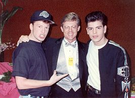 Jordan Knight and Donnie Wahlberg at the 1990 Grammys.jpg