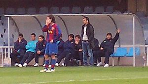 Pep Guardiola - Guardiola coaching Barcelona B