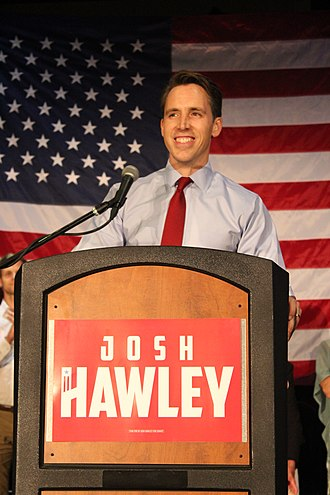 Josh Hawley - Hawley on election night after securing the Republican primary win