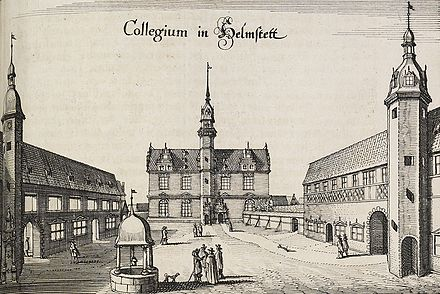 Georg Calixtus taught at the University of Helmstedt during the Syncretistic controversy. Juleum Helmstedt Collegium.jpg