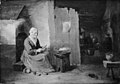 Juliaen Teniers d.Y. - Interior of a Peasant's Cottage with an Old Woman Peeling Apples - KMSsp266 - Statens Museum for Kunst.jpg
