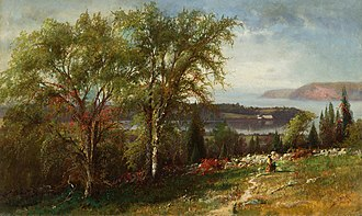 Julie Hart Beers - Julie Hart Beers, Hudson River at Croton Point, 1869.