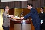 Junichiro Kawaguchi and Banri Kaieda 20101202.jpg
