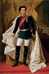 Ludwig II. im Alter von 20 Jahren. Gemälde von Ferdinand Piloty, 1865 (Quelle: Wikimedia)