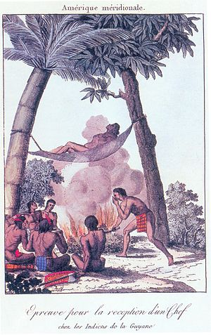 Kalina people - Drawing of a Kali'na ritual.