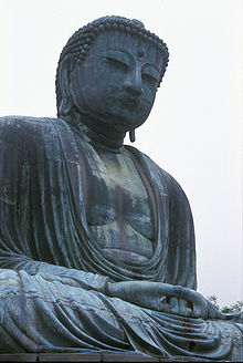 bronze Great Statue of Amitābha in Kamakura, Japan