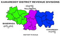 Kamareddy District Revenue divisions.png