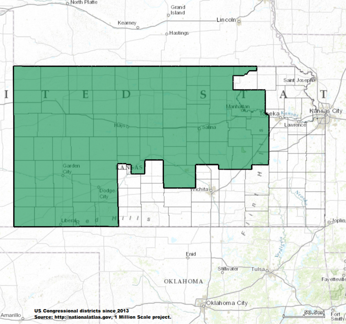 Kansass St Congressional District Wikipedia - Us senate district map