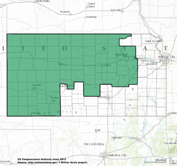 Kansas On The Us Map.Kansas S Congressional Districts Wikipedia
