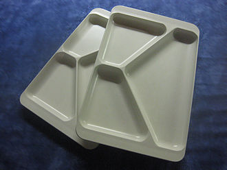 Cafeteria - Divided trays from an East German canteen in the late 1960s.