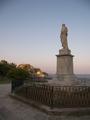 Kapodistrias statue and Palaio Frourio in Corfu.PNG