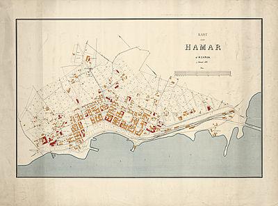 kart over hamar sentrum