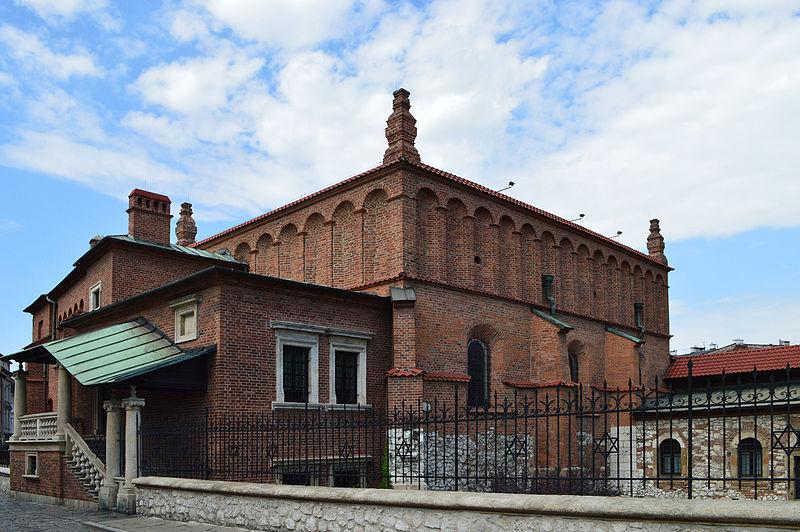 Vieille synagogue de Cracovie : A la fois forteresse et monument renaissance. Aujourd'hui musée du judaisme.