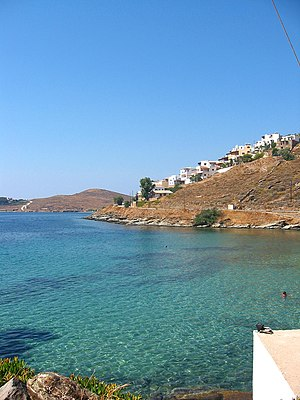 English: A beach in Kea (Tzia) island, Greece ...