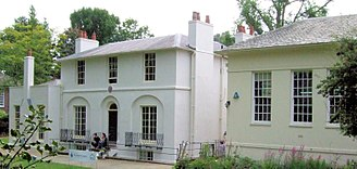 Fanny Brawne -  Wentworth Place (left), now the Keats House museum, Hampstead