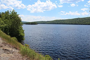 Kennebec River - Wyman Lake on the Kennebec River in Somerset County, Maine